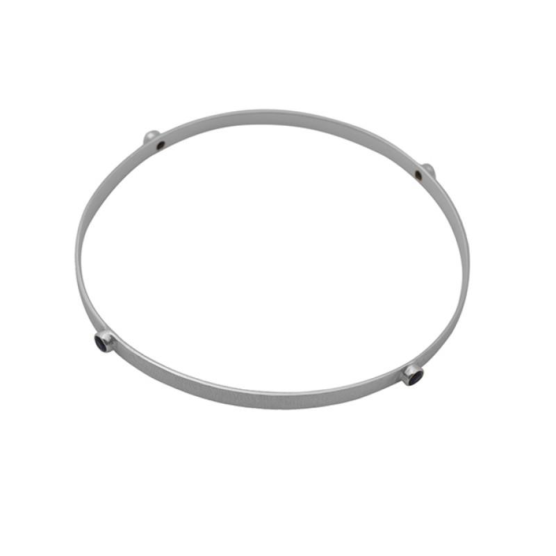 Round Shape Blue Quartz Gemstone 925 Sterling Silver Jewelry Bangle