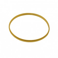 925 Sterling Silver Plain Handmade Designer Gold Plated Bangle Jewelry