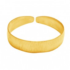 Stylish Designer Plain Bangle 925 Sterling Silver Gold Plated Jewelry