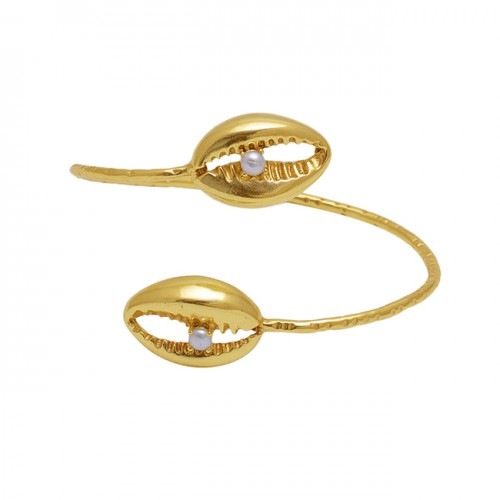 Pear Gemstone 925 Sterling Silver Jewelry Gold Plated Bangle