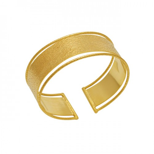 Plain Designer Gold Plated 925 Sterling Silver Jewelry Bangle