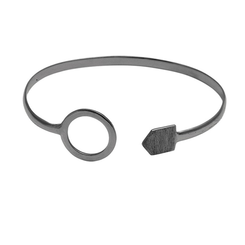 Unique Designer Plain sterling silver gold plated bangle jewelry