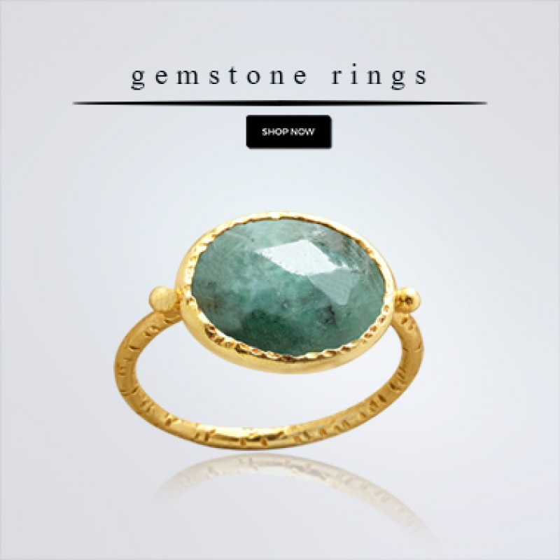 925 Sterling Silver Oval Shape Labradorite Gemstone Gold Plated Designer Ring