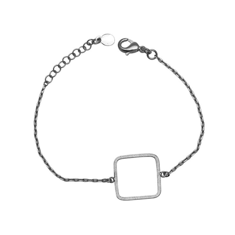 925 Sterling Silver Handmade Designer Gold Plated Bracelet Jewelry
