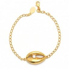 Round Shape Cubic Zirconia Gemstone 925 Silver Jewelry Bracelet
