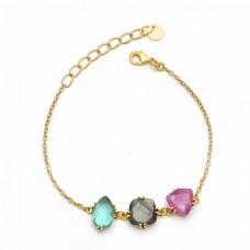 925 Sterling Silver Jewelry Gemstone Handmade Designer Bracelet