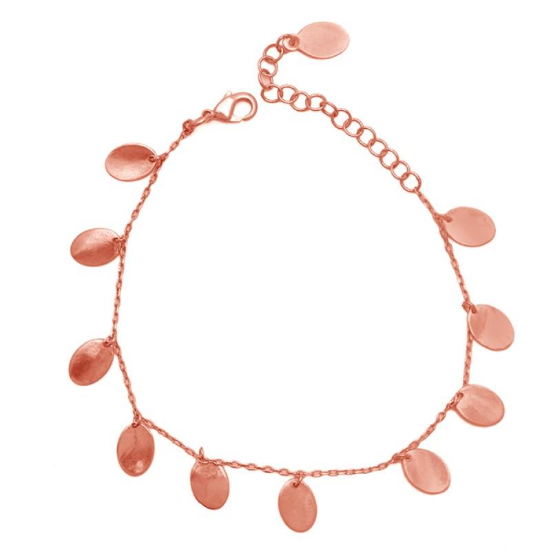 925 Sterling Silver Gold Plated Handmade Designer Bracelet Jewelry
