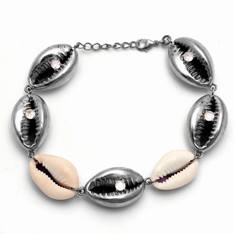Round Shape Cubic Zirconia Gemstone 925 Silver Jewelry Gold Plated Bracelet