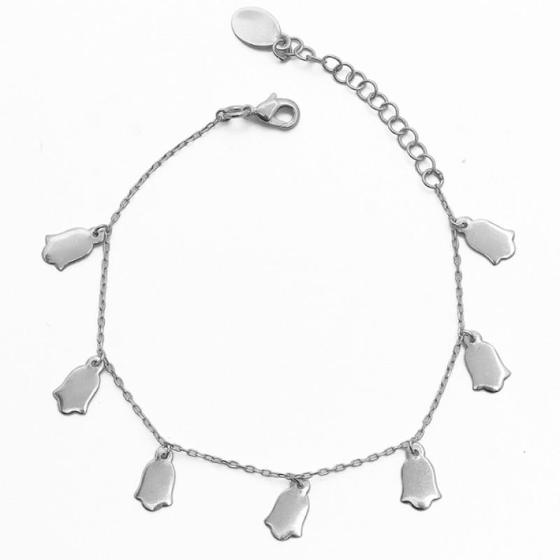 Handmade Designer Plain Gold Plated 925 Sterling Silver Jewelry Bracelet
