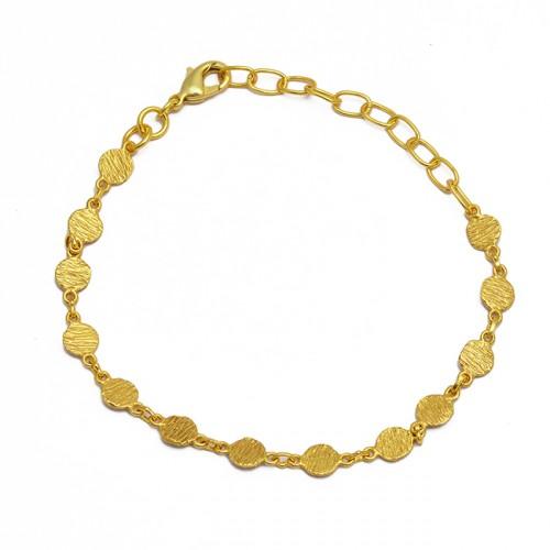 Handmade 925 Sterling Silver Plain Designer Gold Plated Bracelet Jewelry