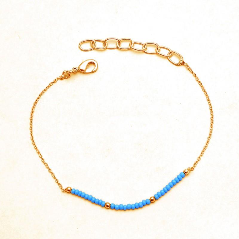 Plain Round Balls Turquouise Gemstone 925 Sterling Silver Handmade Bracelet Jewelry
