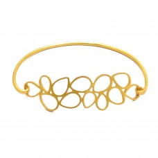 Designer Plain sterling silver gold plated bangle jewelry