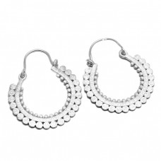 Handmade Designer Plain New Stylish 925 Sterling Silver Dangle Hoop Earrings