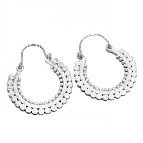 Handmade Designer Plain New Stylish 925 Sterling Silver Dangle Hoop Earrings