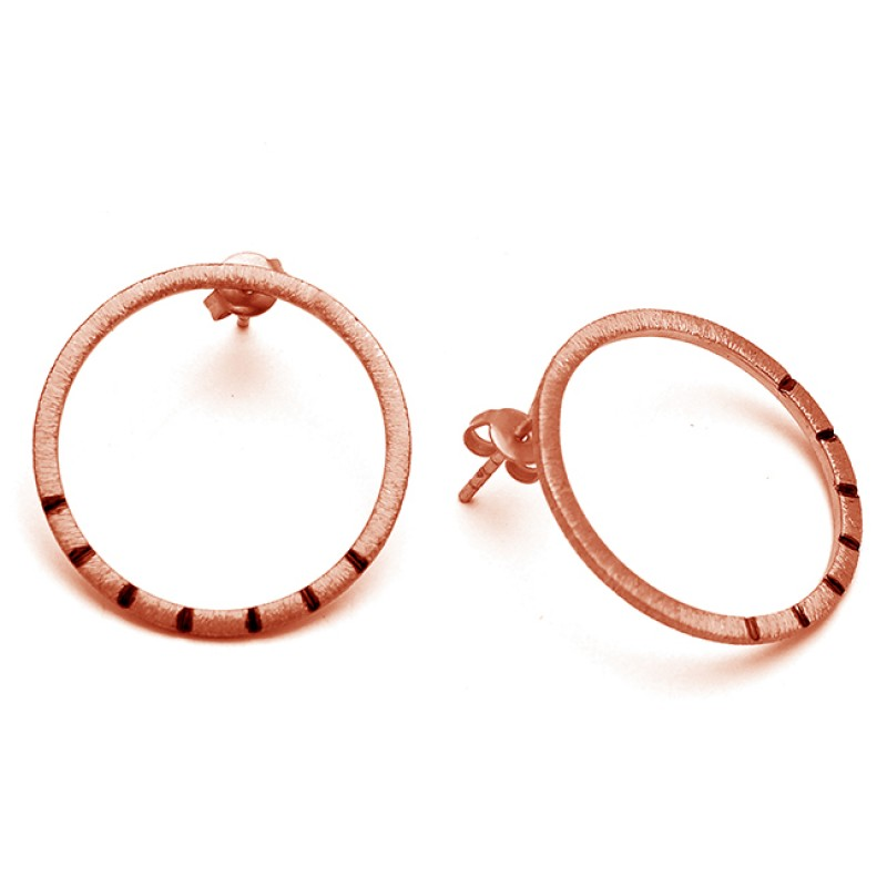 Plain Handmade Designer 925 Sterling Silver Gold Plated Stud Earrings