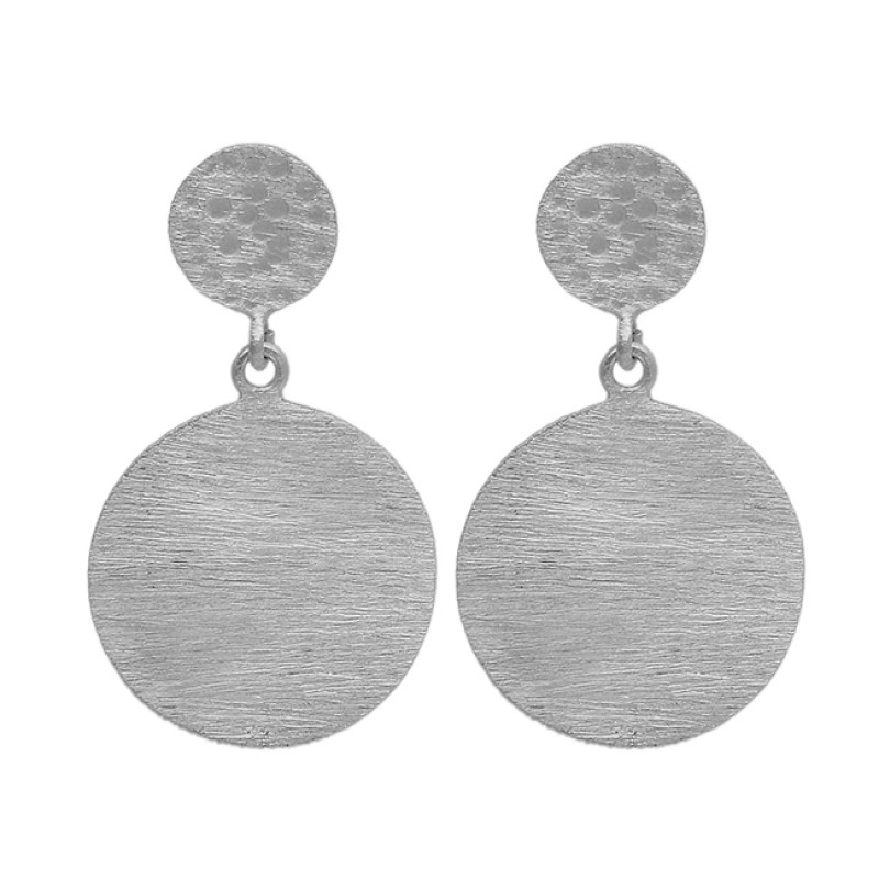 Handmade Designer Plain 925 Sterling Silver Gold Plated Dangle Stud Earrings