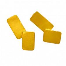 Stylish Plain Silver Designer Gold Plated Handmade Stud Earrings