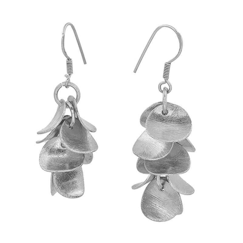 925 Sterling Silver Handmade Designer Rose Gold Plated Dangle Earrings