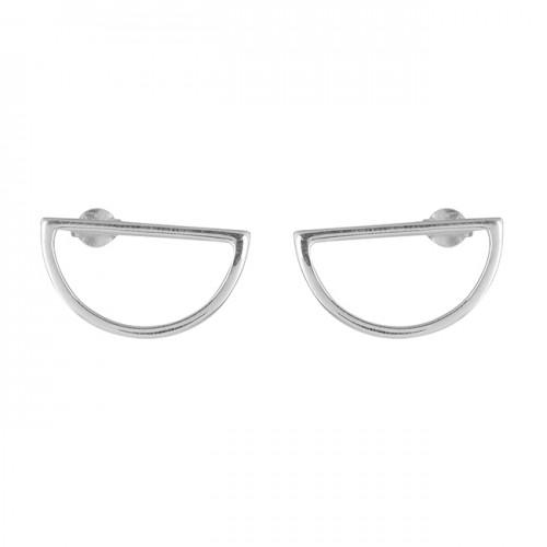 925 Sterling Silver Plain Designer Handmade Stud Solid Earrrings