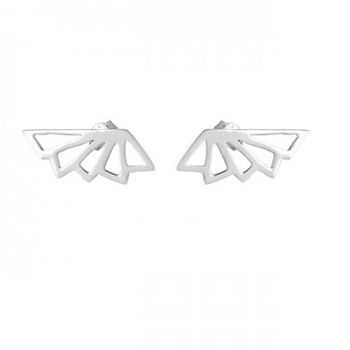 Stylish Plain Handmade Designer 925 Sterling Silver Stud Earrings