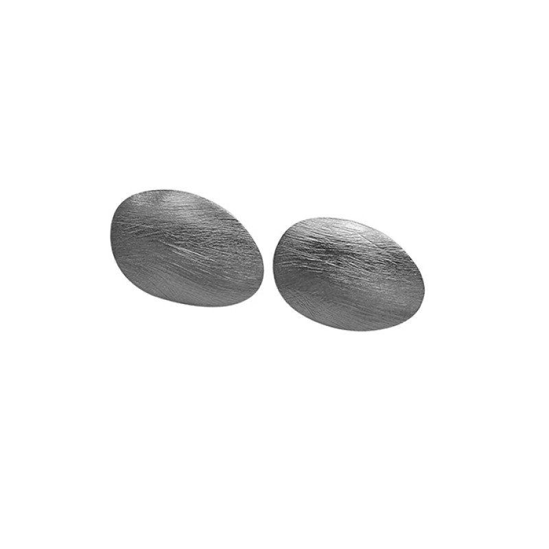 Plain Handcrafted Designer 925 Sterling Silver Gold Plated Stud Earrings