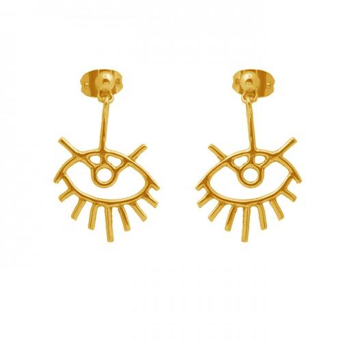 925 Sterling Silver Jewelry Plain Handcrafted Designer Stud Earrings