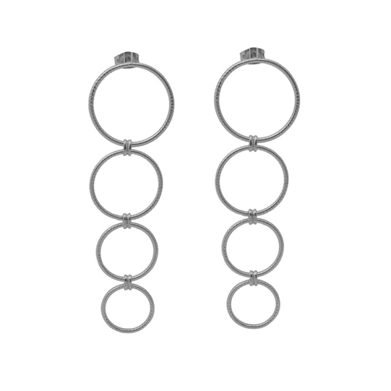 925 Sterling Silver Jewelry Plain Handmade Designer Gold Plated Earrings
