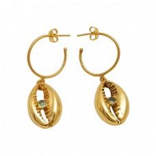 Peridot  Gemstone 925 Sterling Silver Jewelry Dangle Earrings