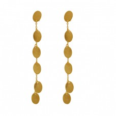 925 Sterling Silver Jewelry Hammered Designer Gold Plated Earrings