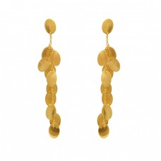 925 Sterling Silver Jewelry Designer Gold Plated Earrings