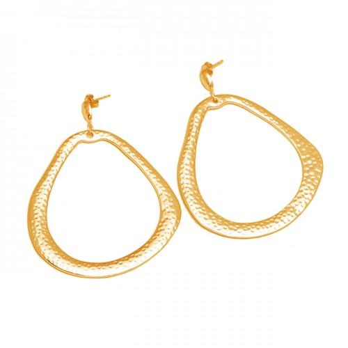 Handcrafted Designer Plain 925 Sterling Silver Stylish Stud Earrings
