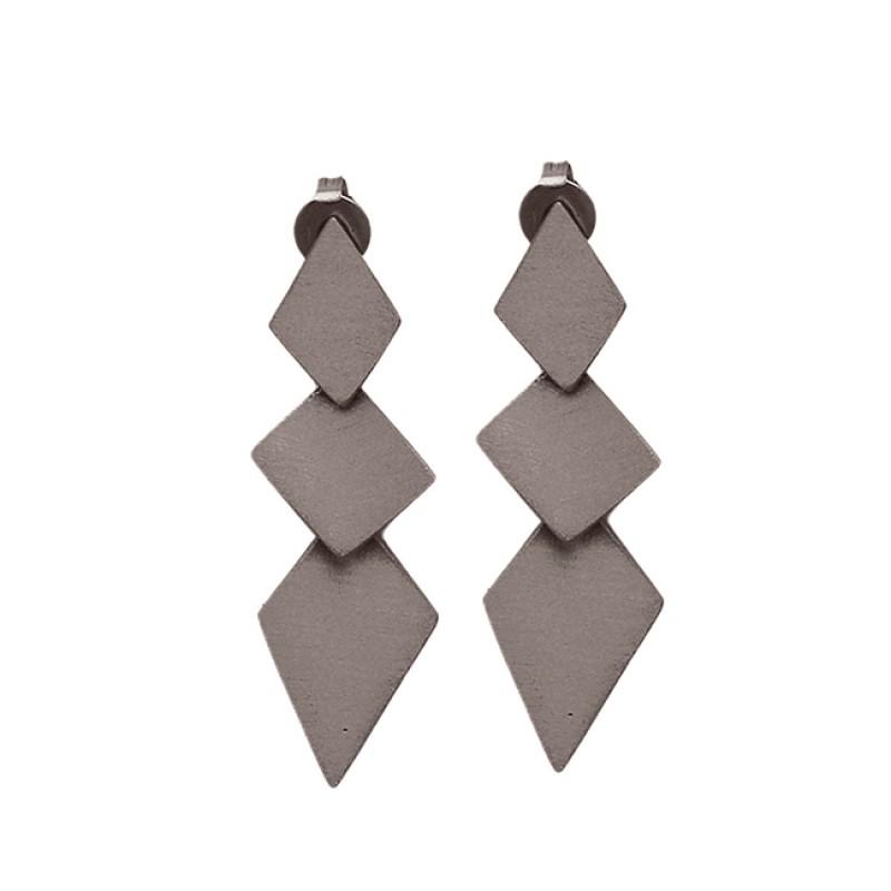 Stylish Designer Plain 925 Sterling Silver Gold Plated Stud Earrings