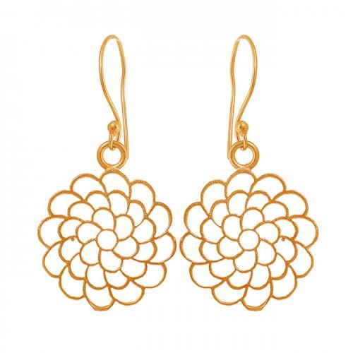 Filigree Style Designer Handmade Plain Black Rhuthenium Dangle Earrings
