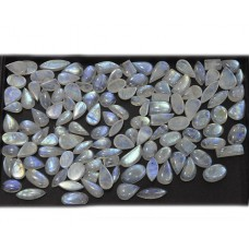 Cabochon Nice Blue Fire Rainbow Moonstone Loose Gemstone Mix Shape Size For Jewelry