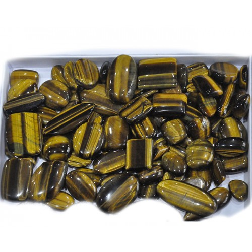 Yellow Tiger Eye Loose Gemstone Mix Shape Size Bunch Lots For Jewelry