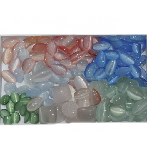 Mix Color Selenite Loose Gemstone Mix Shape Size Wholesale Lots For Jewelry