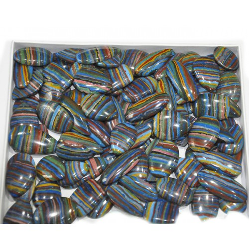 Rainbow Calsilica Cabochon Loose Gemstone Mix Shape Size Wholesale Lots For Jewelry
