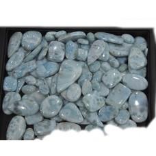 Larimar Cabochon Loose Gemstone Mix Shape Size For Jewelry
