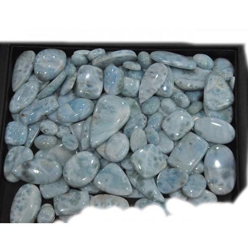 Larimar Cabochon Loose Gemstone Mix Shape Size For Jewelry