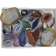 Slice Agate Pieces Loose Gemstone Mix Shape Size For Jewelry