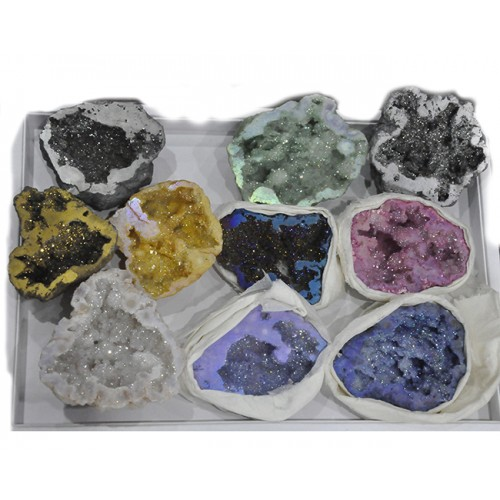 Window Druzy Pieces Loose Gemstone Free Shape Size Wholesale Lots For Jewelry