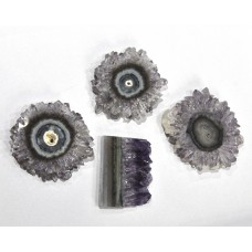 Amethyst Window Slice Loose Gemstone Free Shape Size Wholesale Lots For Jewelry