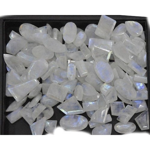 Rainbow Moonstone Faceted Loose Gemstone Mix Shape Size Wholesale Lots For Jewelry
