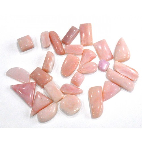 Nice Pink Opal Cabochon Loose Gemstone Mix Shape Size Wholesale Lots For Jewelry
