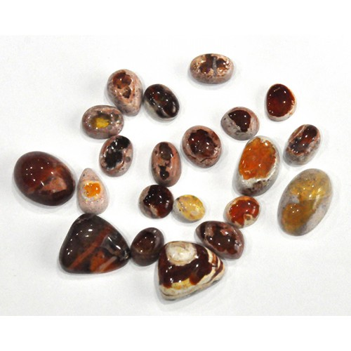 Mexican Fire Opal Cabochon Loose Gemstone Free Shape Size Bunch Lots For Jewelry