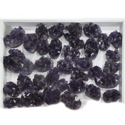 Natural Amethyst Rock Pieces Loose Gemstone Mix Shape Size Lots For Jewelry