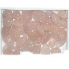 Rose Quartz Cabochon Loose Gemstone Mix Shape Size Bunch Lots For Jewelry