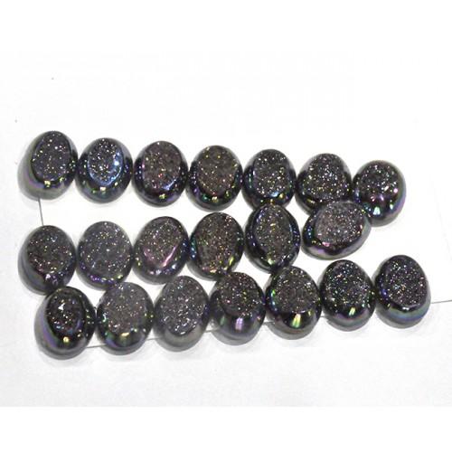 Titanium Druzy Pieces Loose Gemstone Mix Shape Size Lots For Jewelry