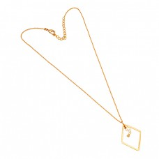 Latest Handmade Designer Plain 925 Sterling Silver Gold Plated Designer Necklace