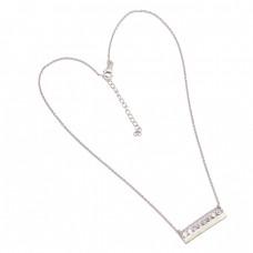 Round Shape Crystal Quartz Gemstone 925 Sterling Silver Handmade Necklace Jewelry